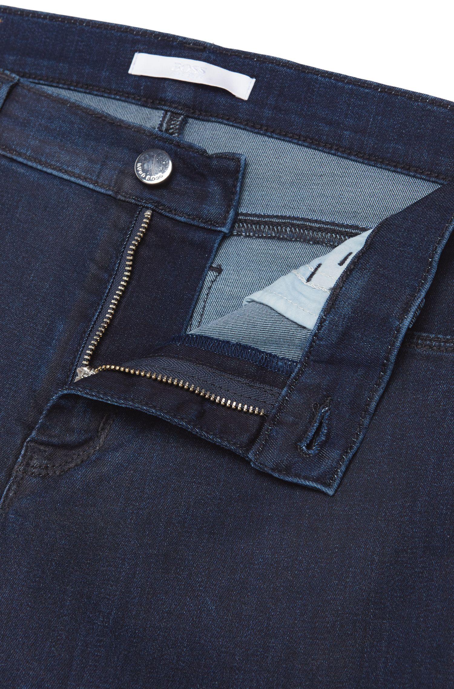 Jeans Slim Fit en coton mélangé de longueur raccourcie: «Nafice»