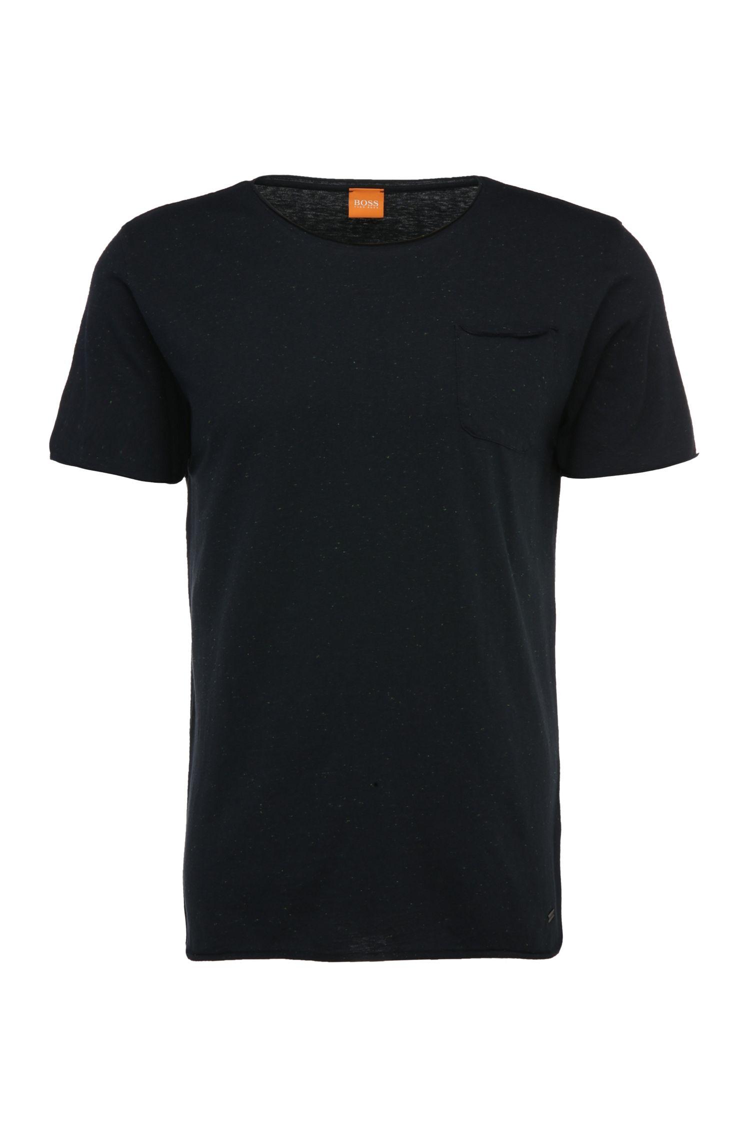 T-shirt légèrement chiné à col rond: «Tedoryk»