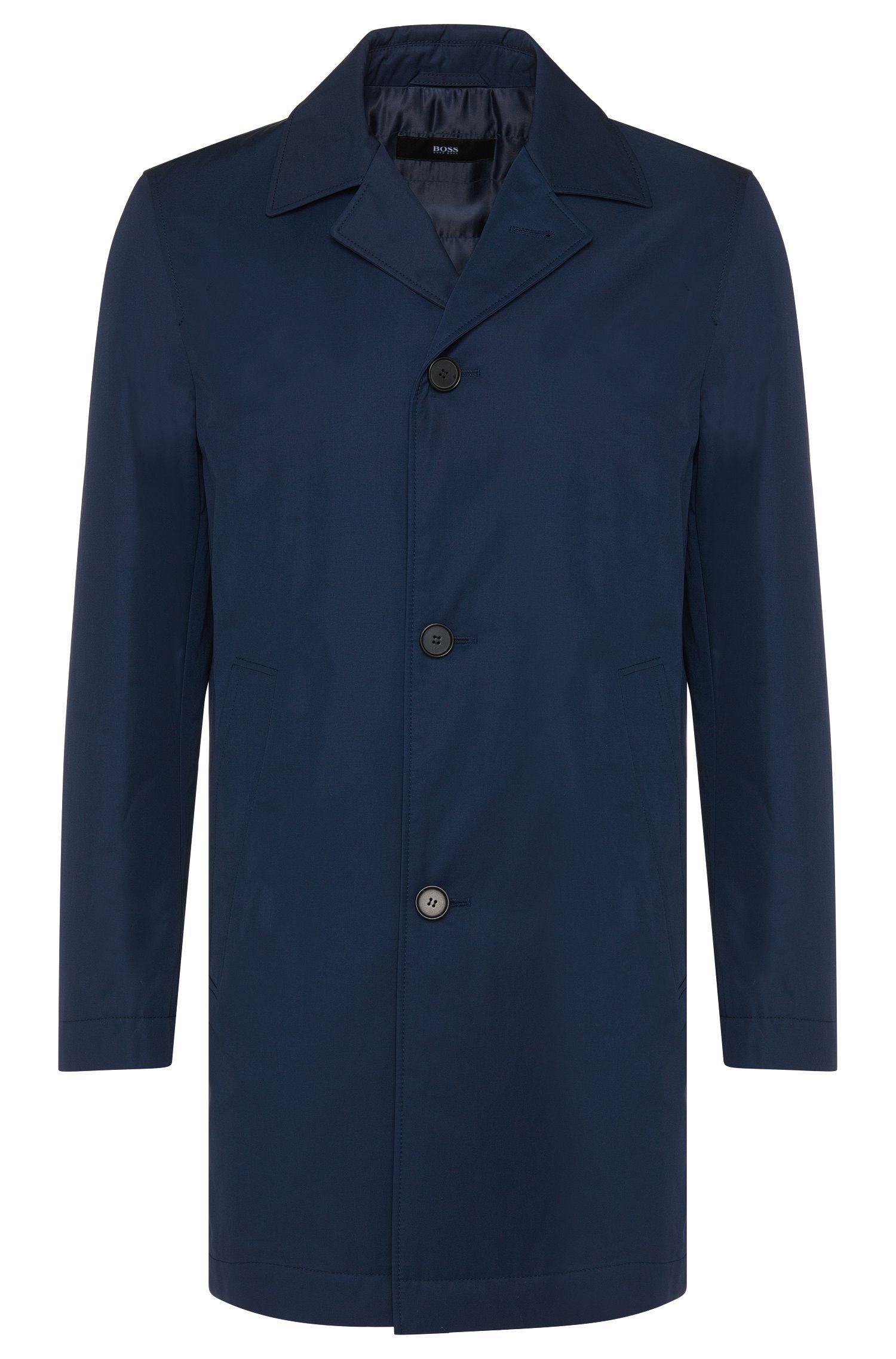 Manteau uni en coton mélangé: «Dais9»