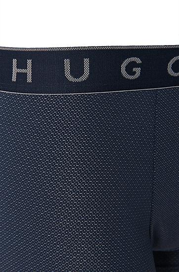 Boxershort aus elastischem Baumwoll-Mix mit Modal: 'Microjacquard', Dunkelblau