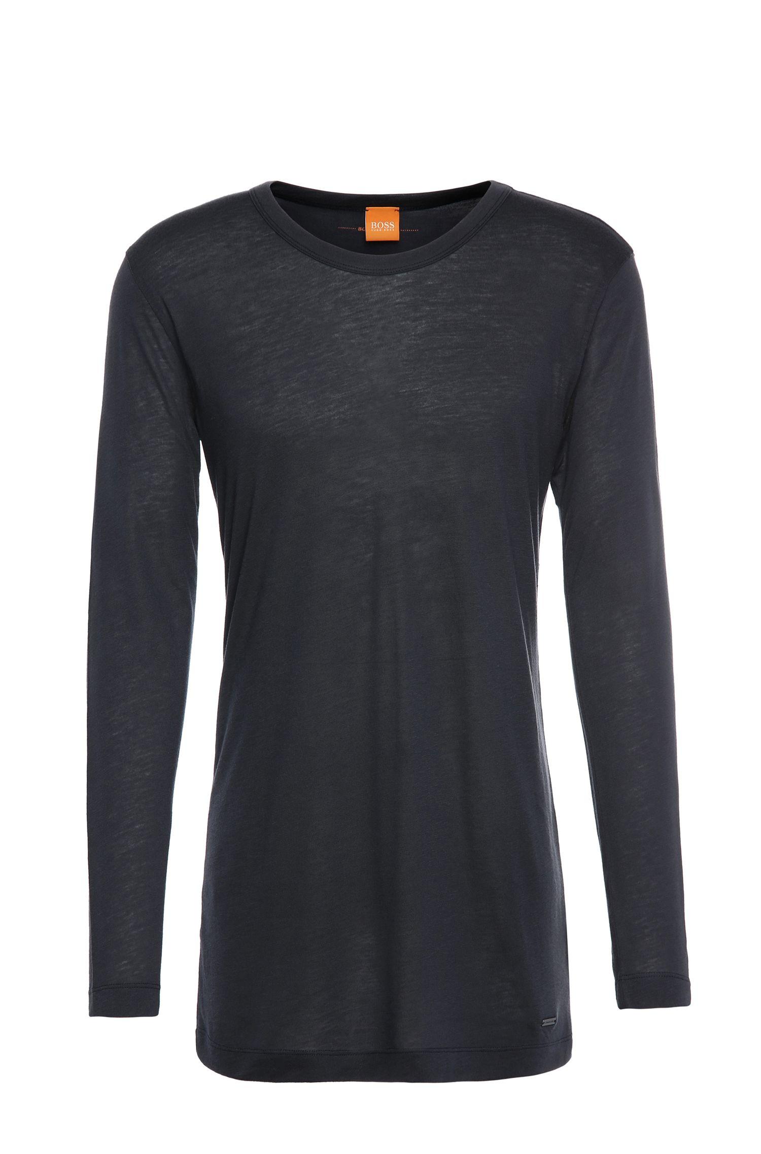 T-shirt à manches longues Regular Fit en mélange de matières à teneur en laine: «Tijuan»