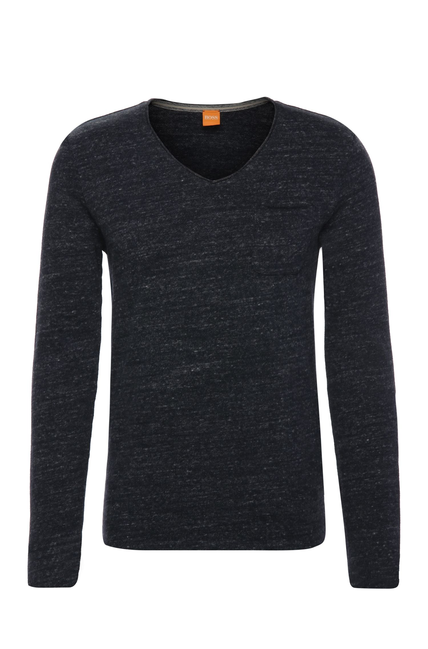 T-shirt à manches longues Regular Fit en coton chiné: «Taufan»