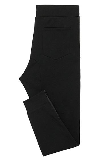 Regular-Fit Sweathose aus Baumwolle mit dekorativen Zippern: 'Damalfi', Schwarz