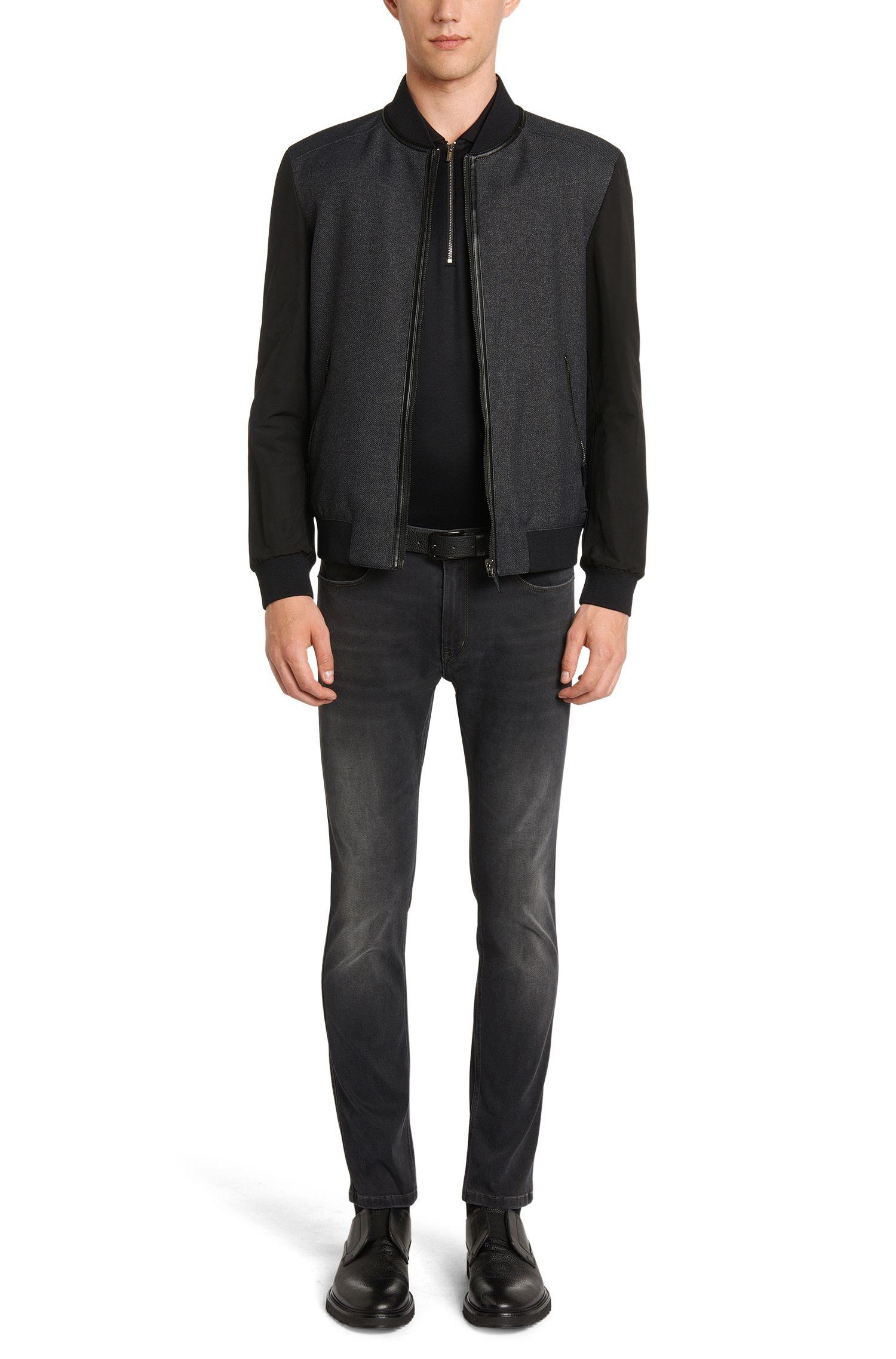 Regular-Fit Poloshirt aus Baumwolle mit geriffelter Struktur: 'Digato'