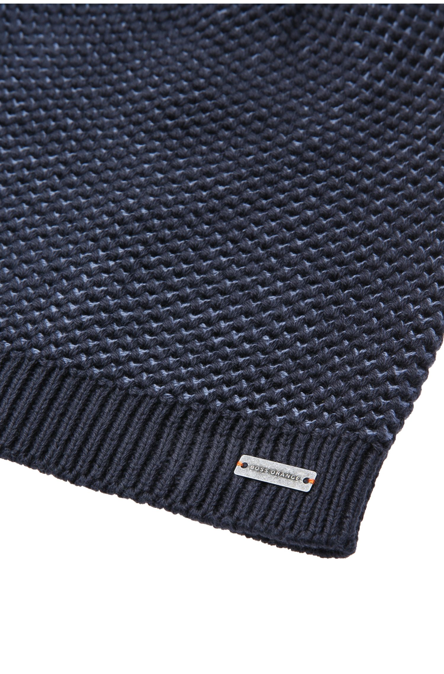 Bonnet en maille de coton bicolore: «Franek1»