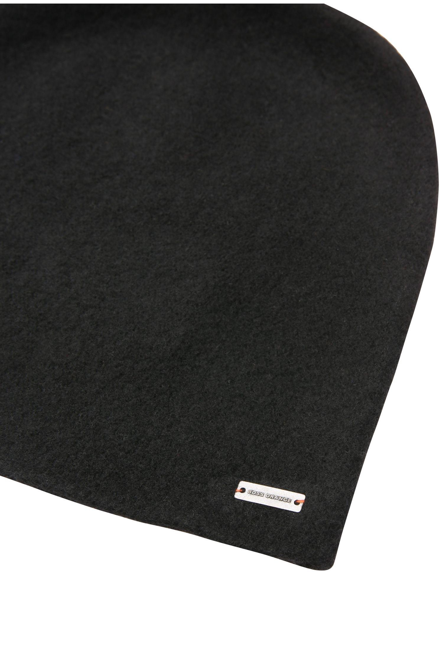 Unifarbene Mütze aus reiner Wolle: ´Felix`