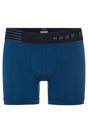 Boxershorts mit breitem Elastikbund: 'CyclistBrushed Micro', Blau