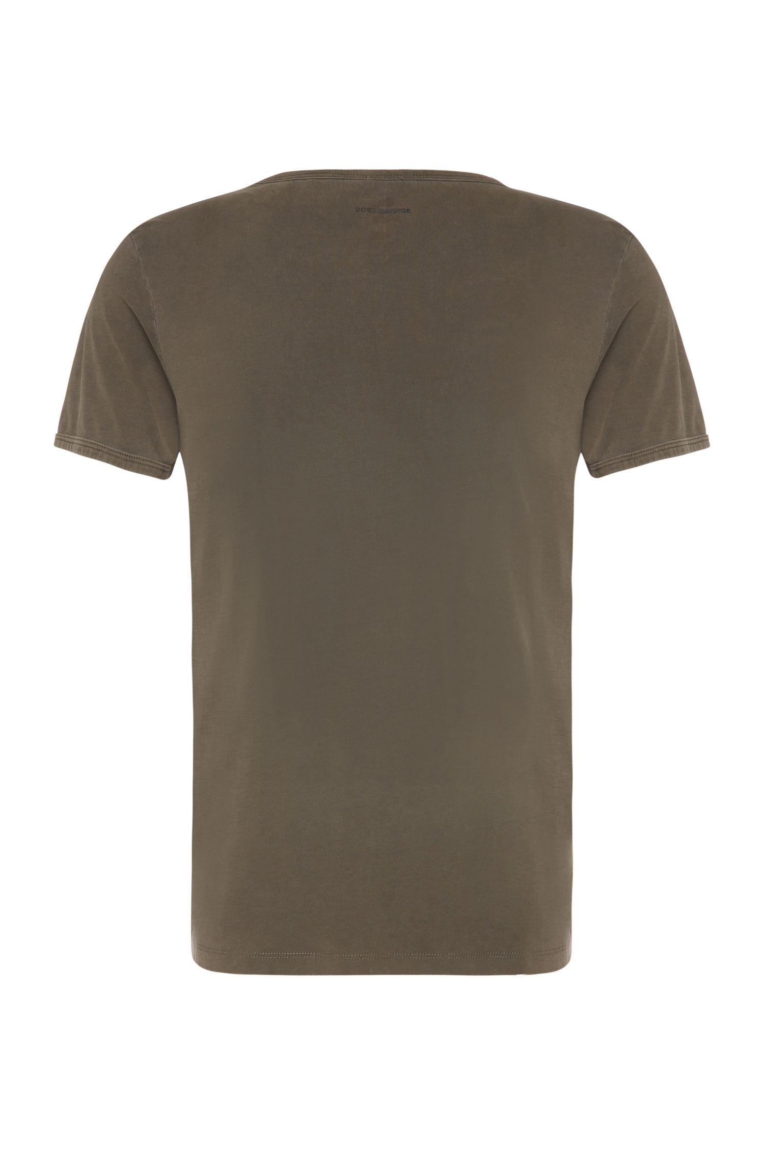 T-shirt en coton de coupe étroite à imprimé blason: «Tebbo 2»