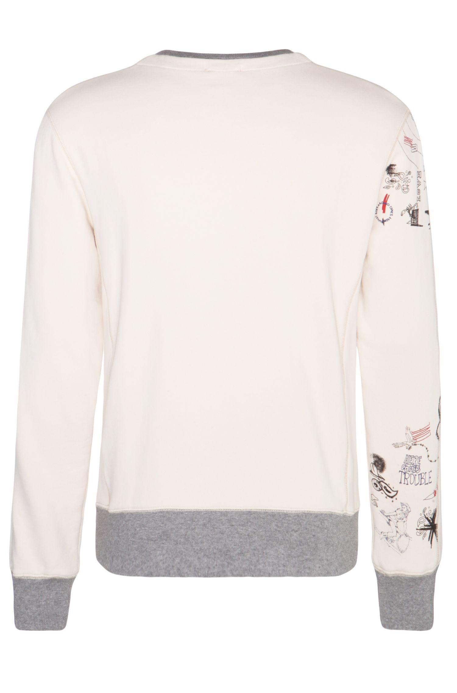 Bedrucktes Sweatshirt aus reiner Baumwolle: ´Wheel-Style`