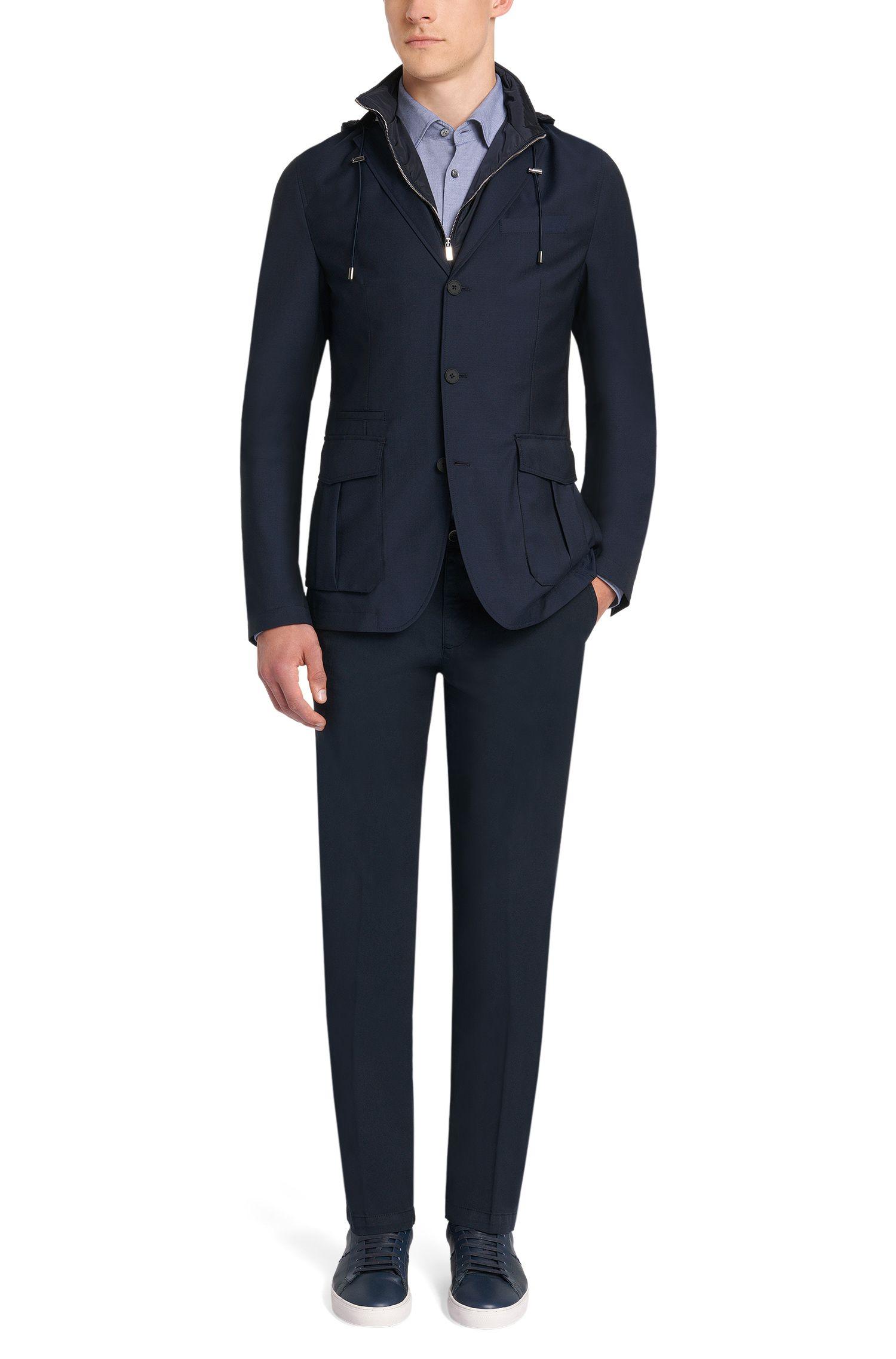 Regular-Fit Tailored Hemd aus Baumwolle mit Perlmuttknöpfen: 'T-Landon_32F'