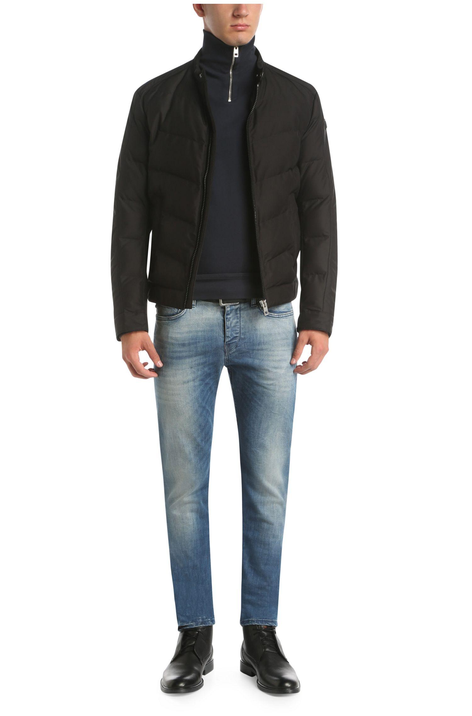 Slim-Fit Sweatshirt aus Baumwolle im Troyer-Stil: ´Zprite`