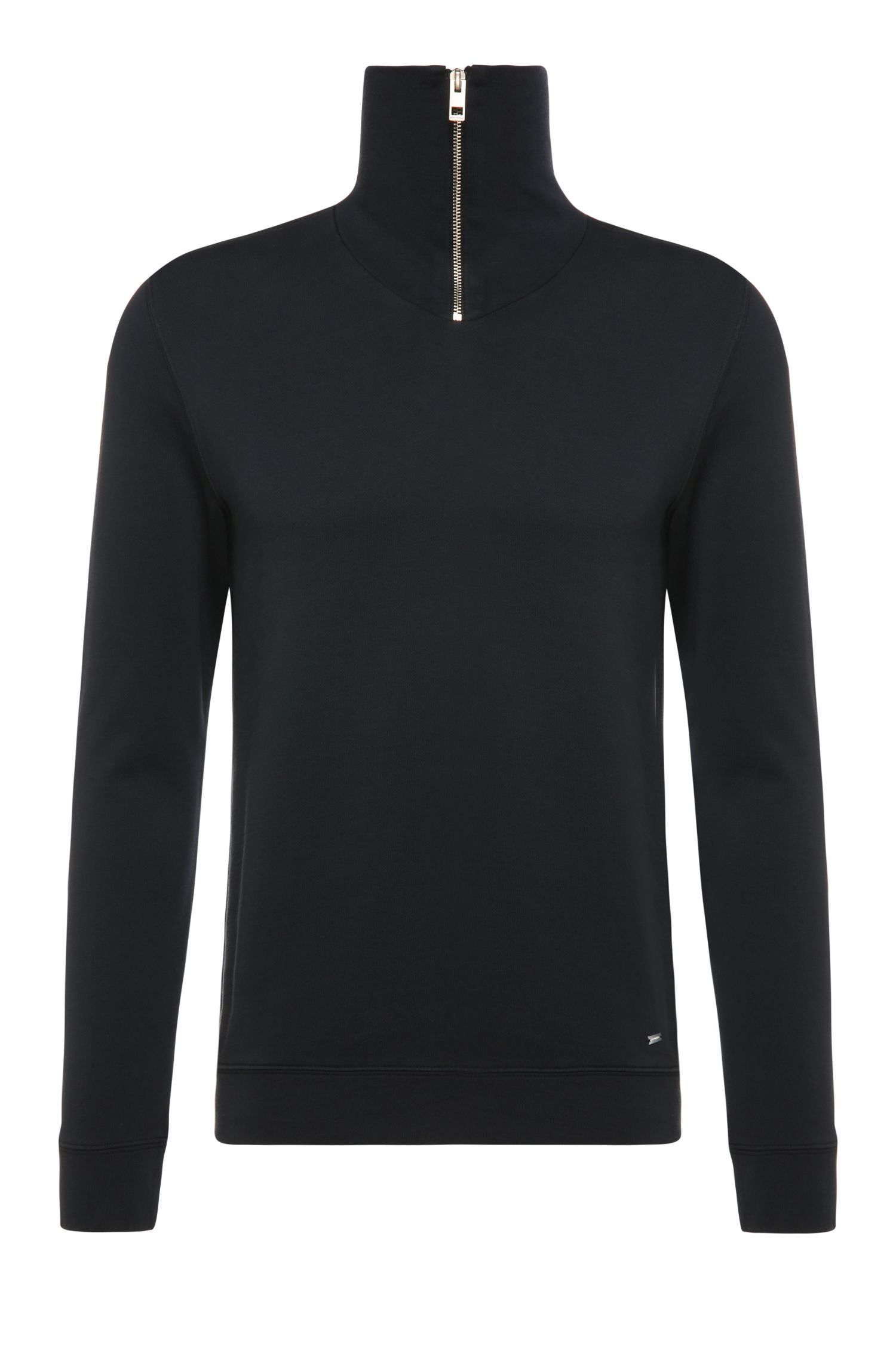 Slim-fit cotton sweatshirt in Troyer style: 'Zprite'
