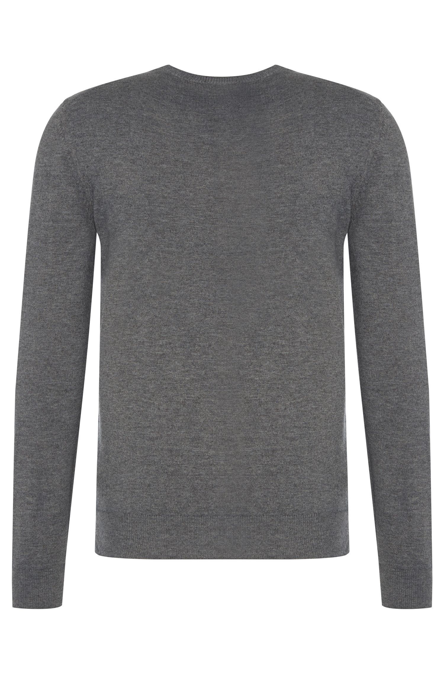 Pull chiné Regular Fit en pure laine vierge : « Brigg »
