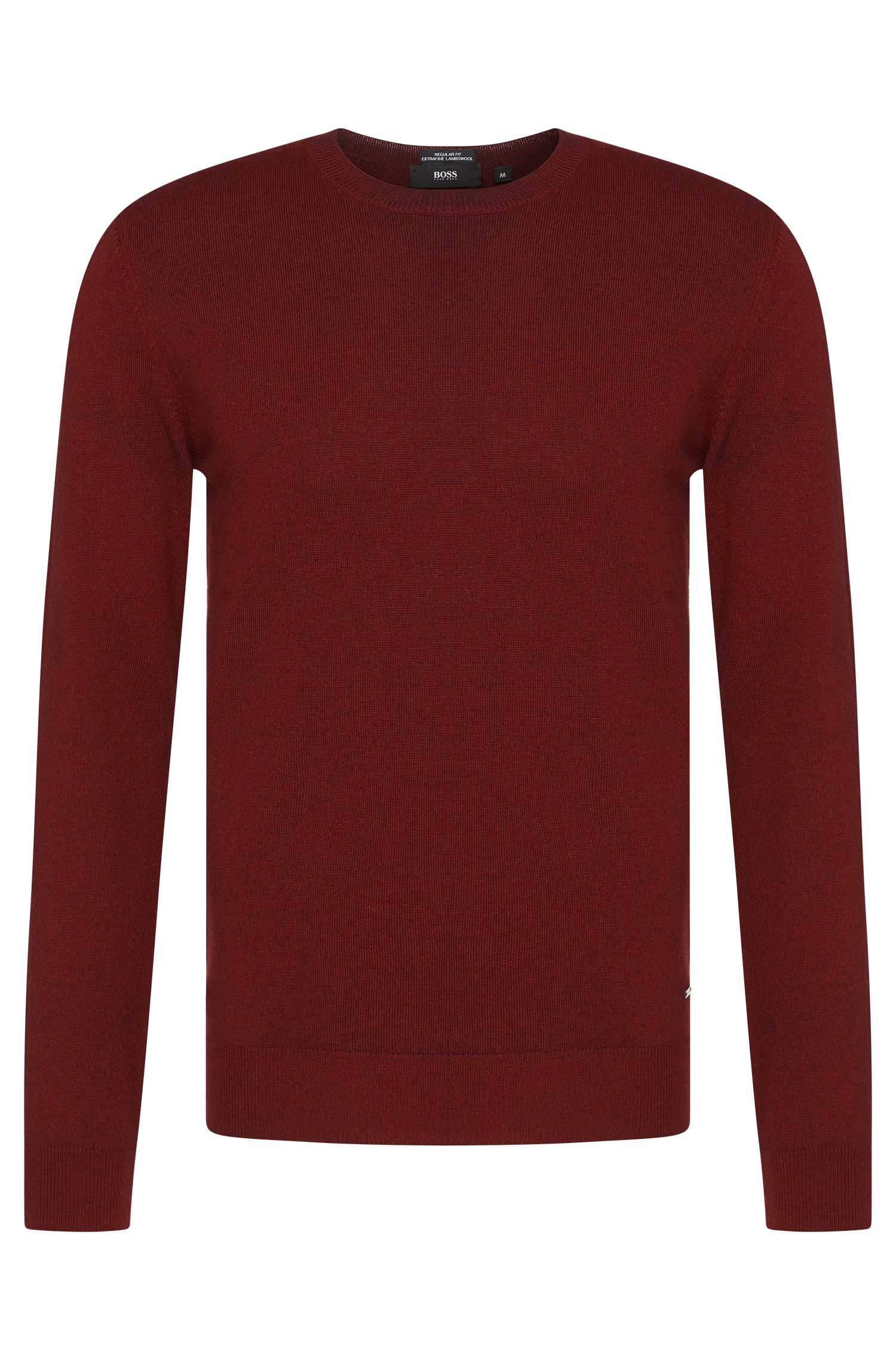 Mottled regular-fit sweater in pure new wool: 'Brigg'