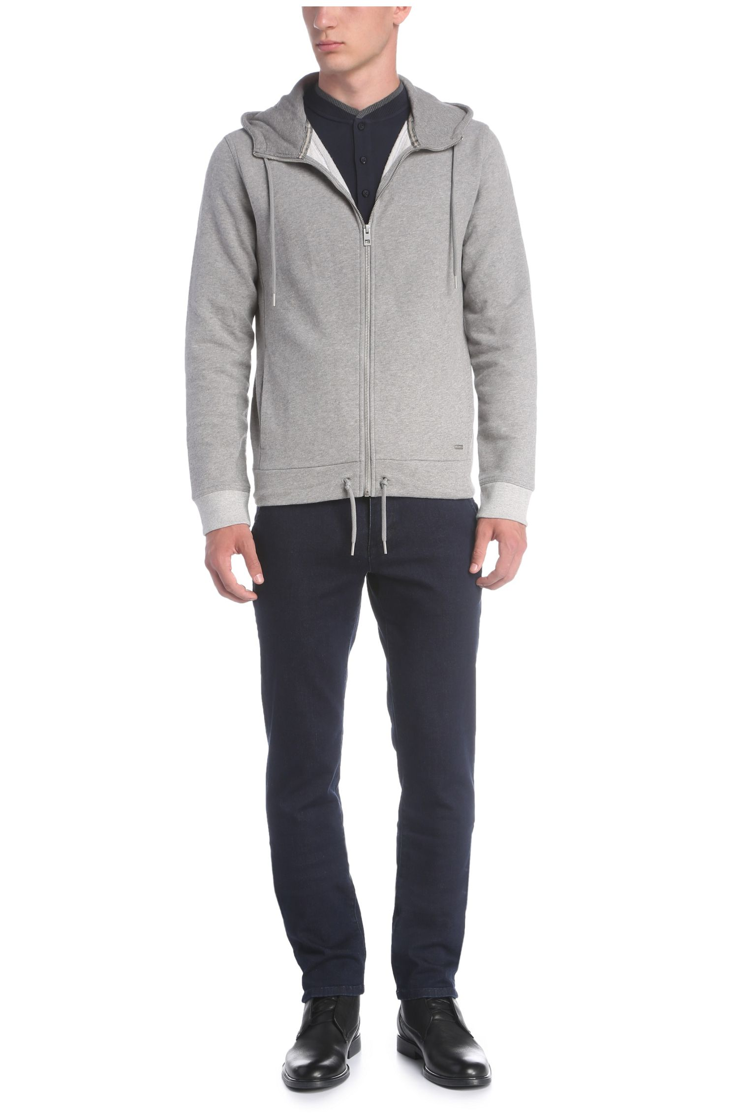 Regular-fit jas met capuchon van een katoenmix: 'Ztager'
