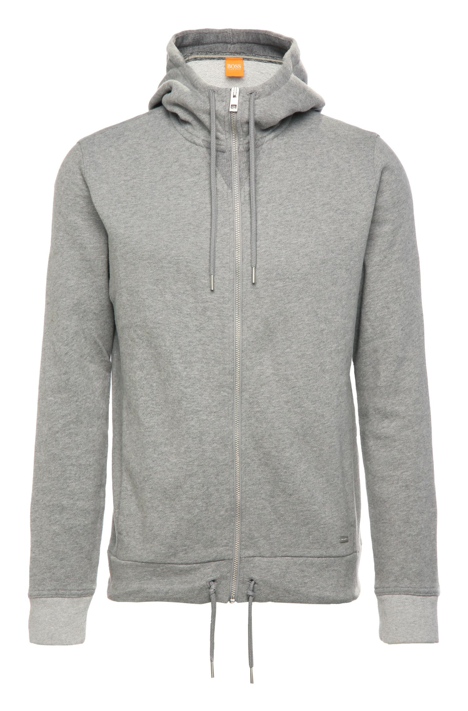 Regular-fit hooded jacket in a cotton blend: 'Ztager'