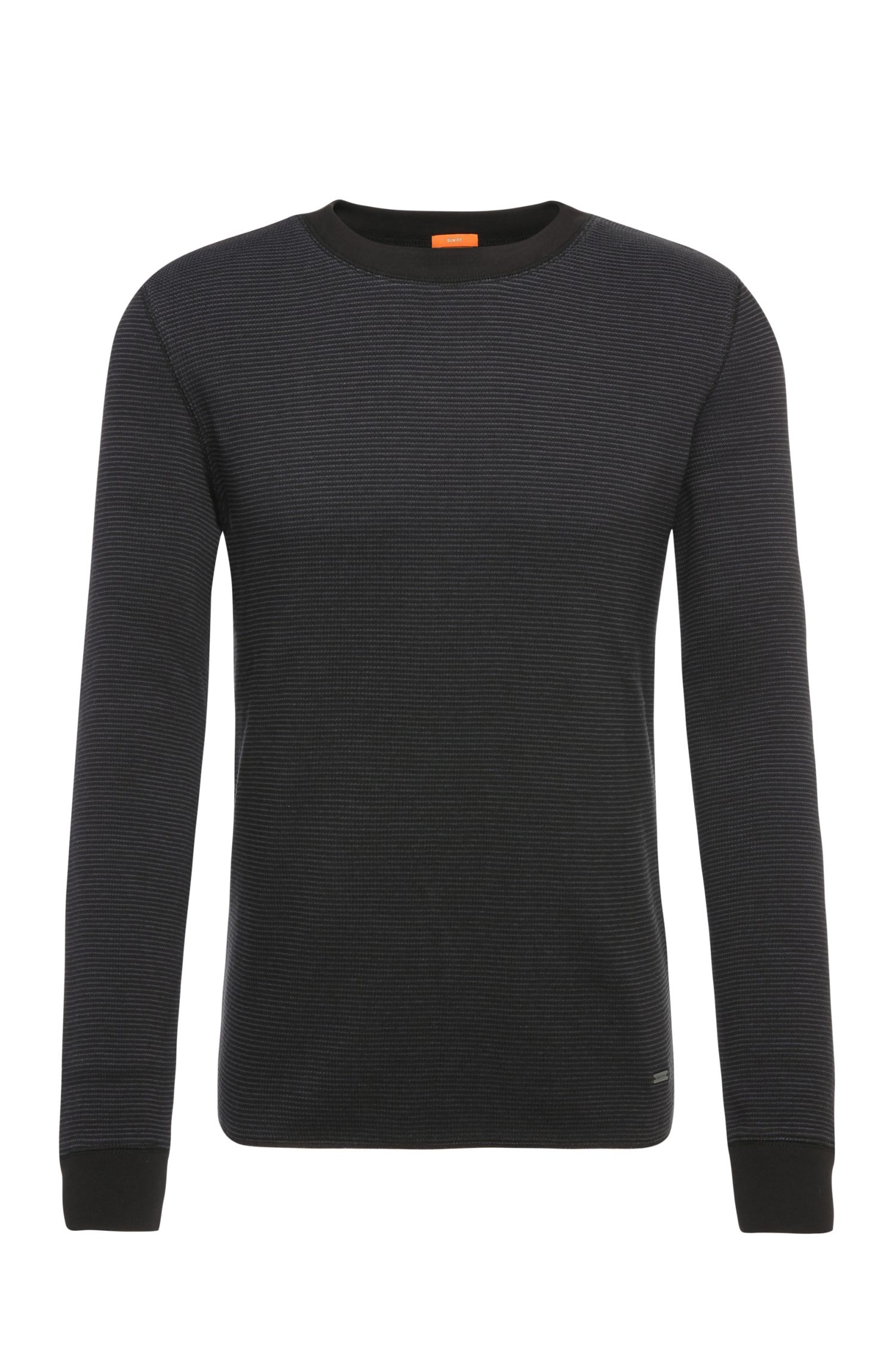 Lightweight slim-fit sweater in cotton: 'Wot'