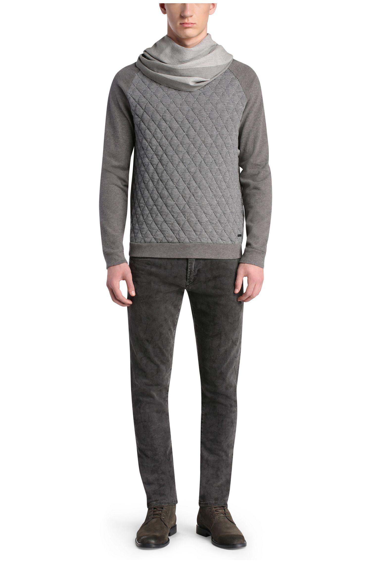 Sweatshirt mit Rauten-Steppungen aus Baumwolle: ´Welsh`