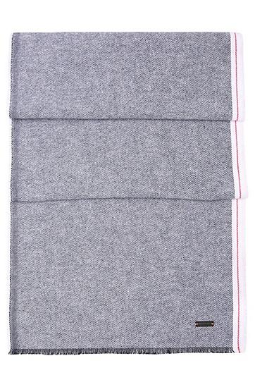 Schal aus texturierter Baumwolle: ´Noell`, Dunkelblau