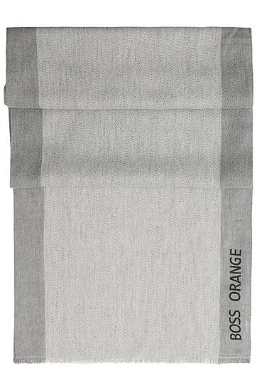 Schal aus Baumwoll-Mix: ´Niklas`, Hellgrau