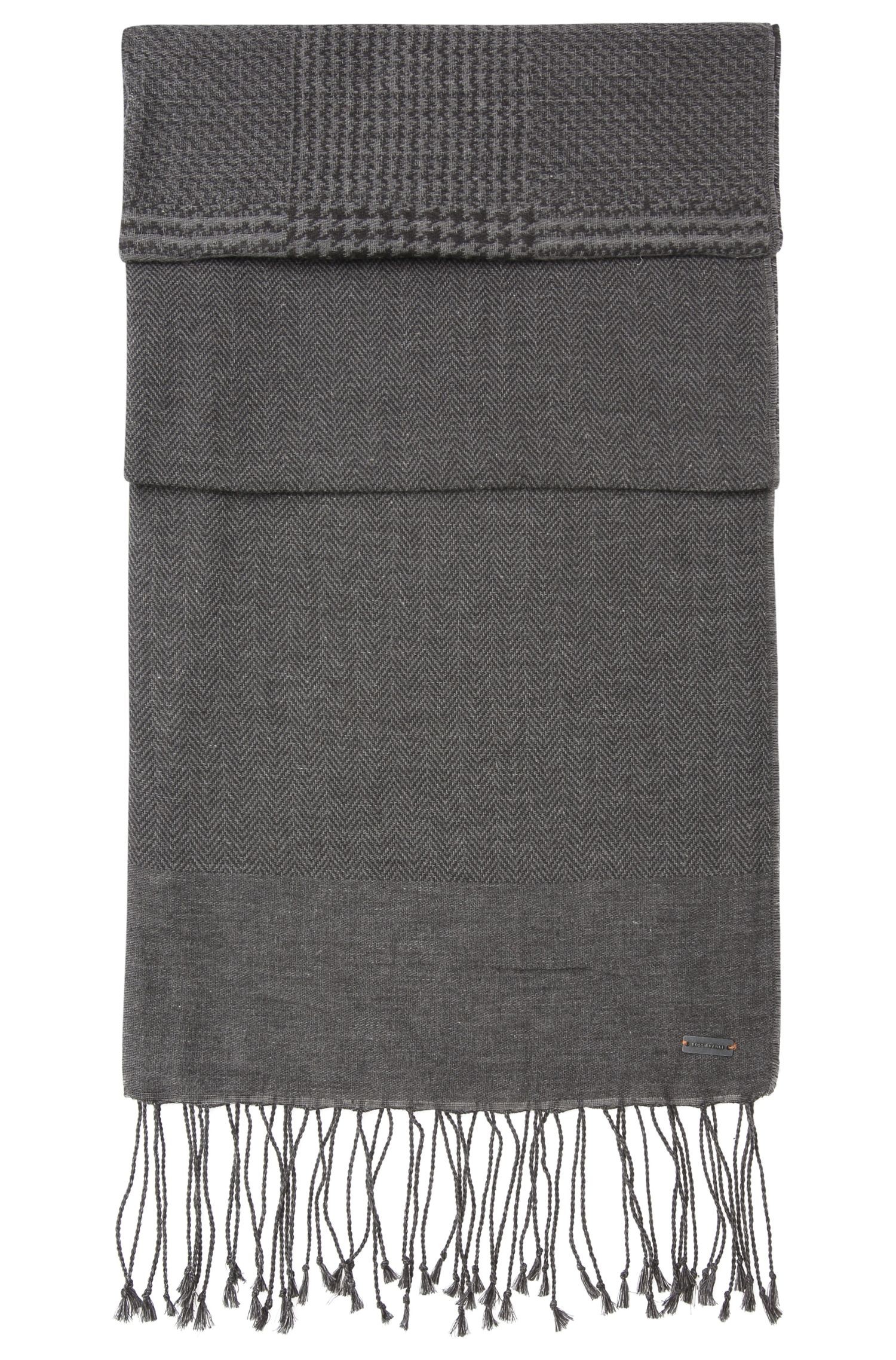 Scarf in cotton with various woven patterns: 'Net'