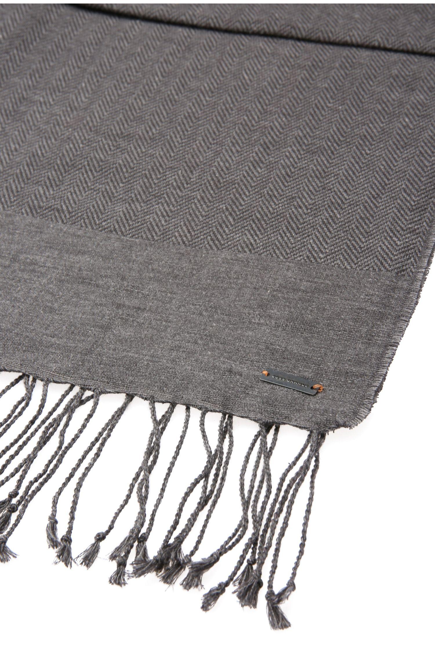 Sjaal van katoen met verschillende weefdessins: 'Net'