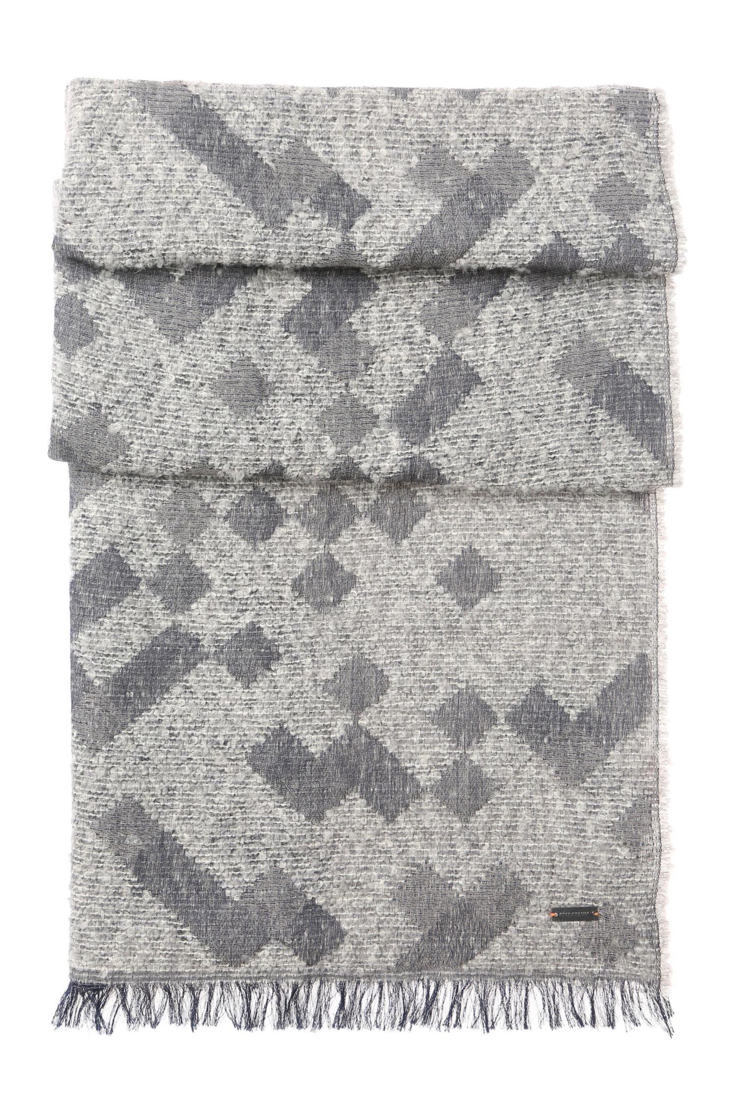 Schal aus Material-Mix mit Baumwolle, Alpaka und Schurwolle: ´Nic`