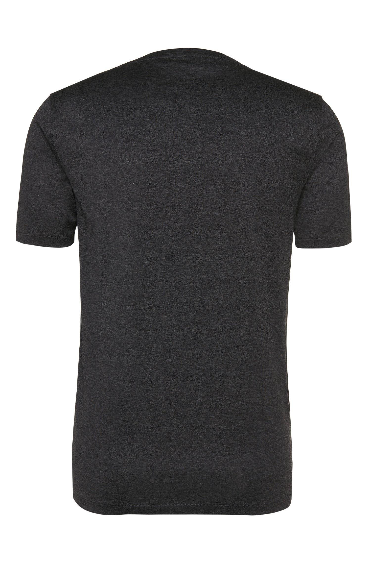 T-shirt Regular Fit en pur coton pourvu d'une poche-poitrine: «Dalcone»
