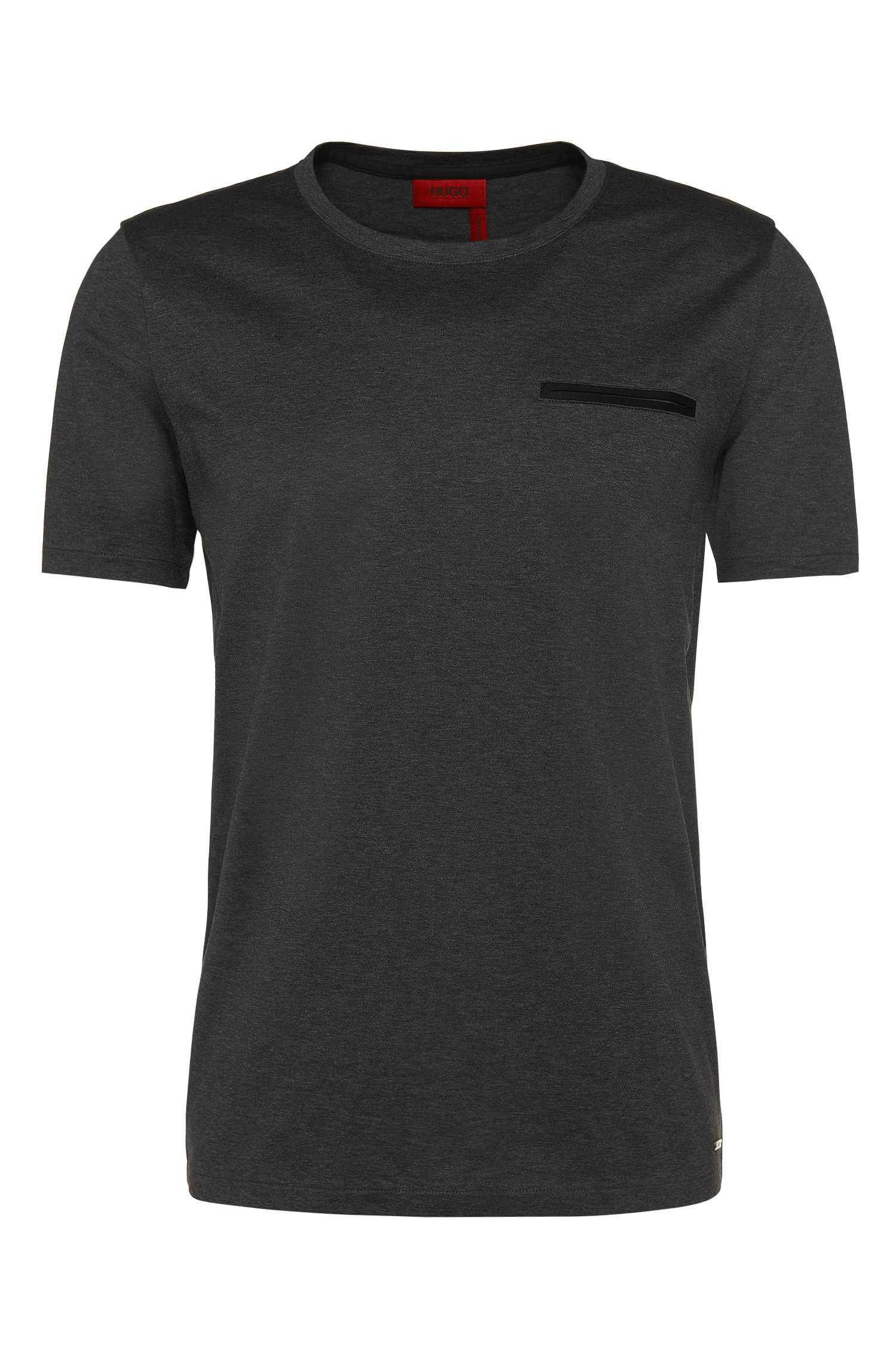 T-shirt regular fit in puro cotone con taschino sul petto: 'Dalcone'