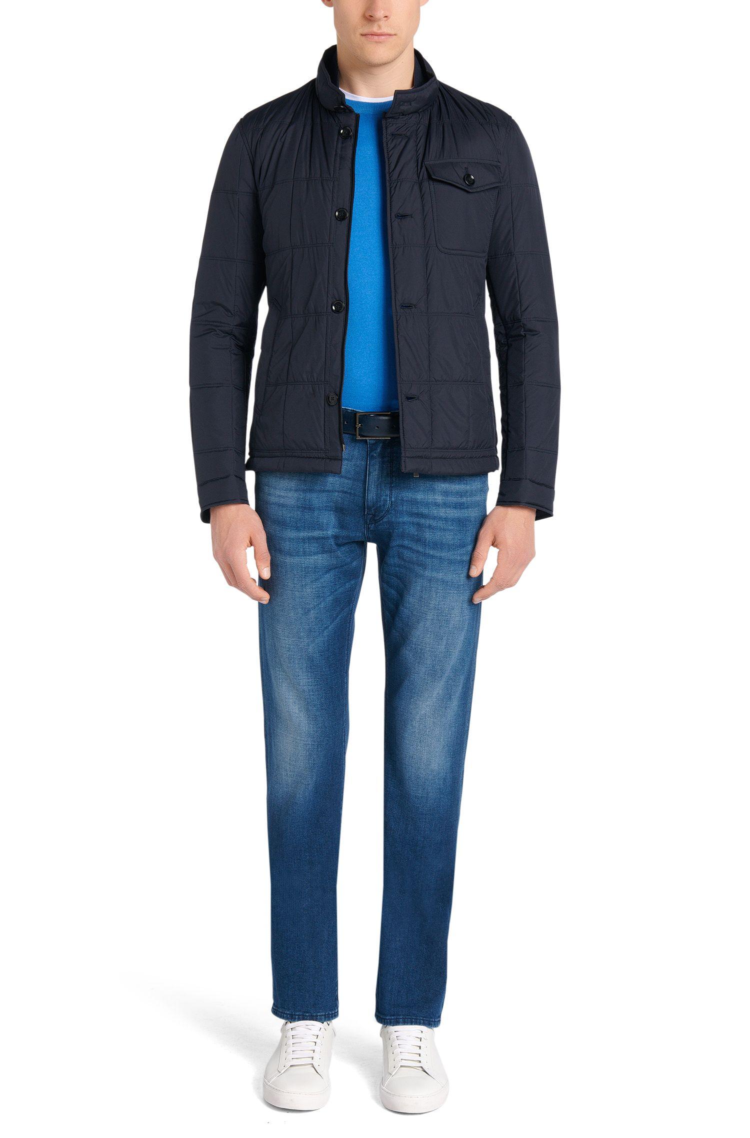 Regular-fit trui van een scheerwolmix met zijde: 'Baci'