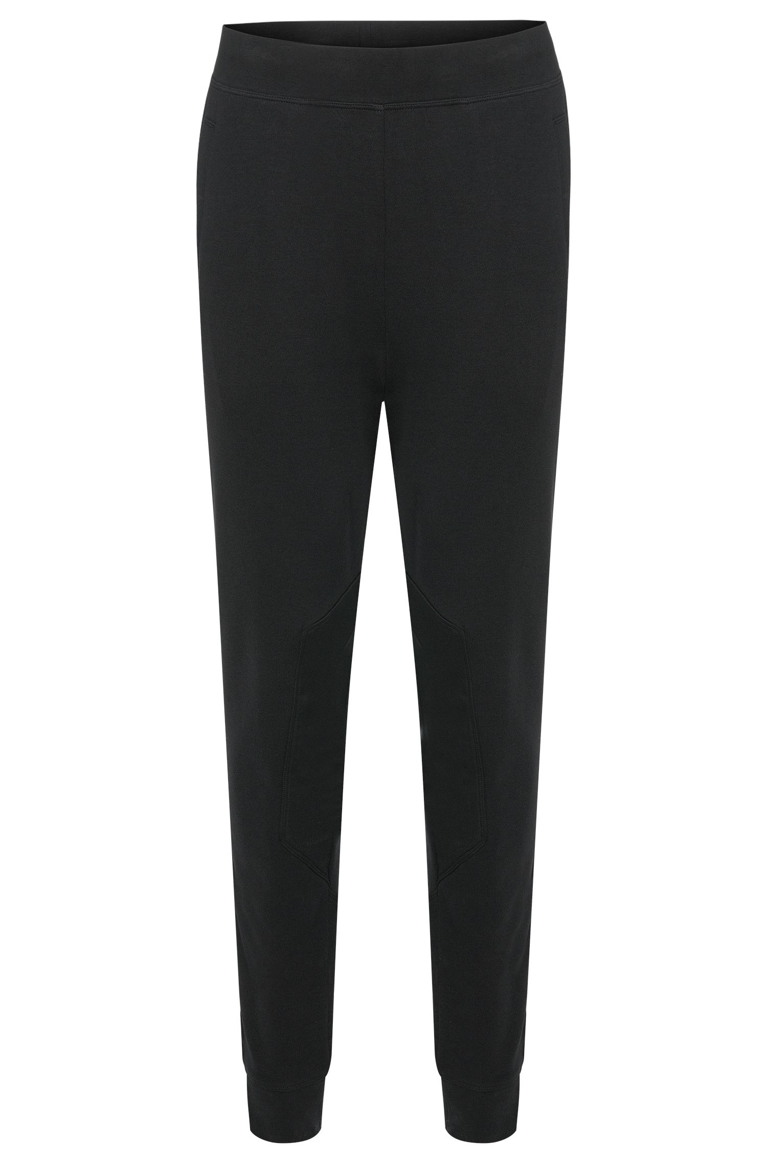 Regular-fit sweat trousers in cotton with interior drawstring: 'Dugh'