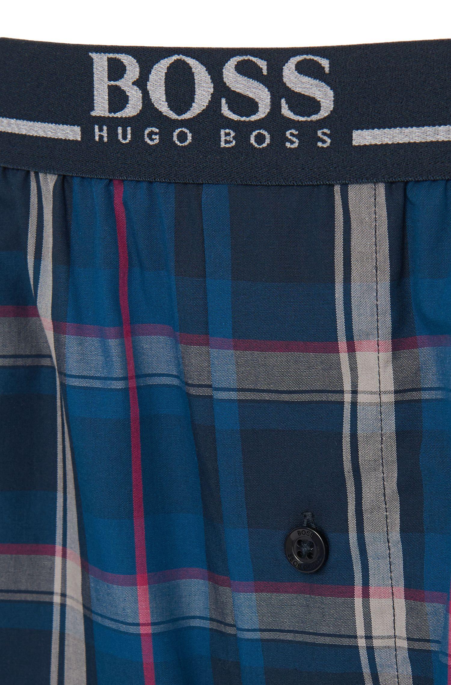 Karierte Pyjama-Hose aus reiner Baumwolle: 'Long Pant EW'