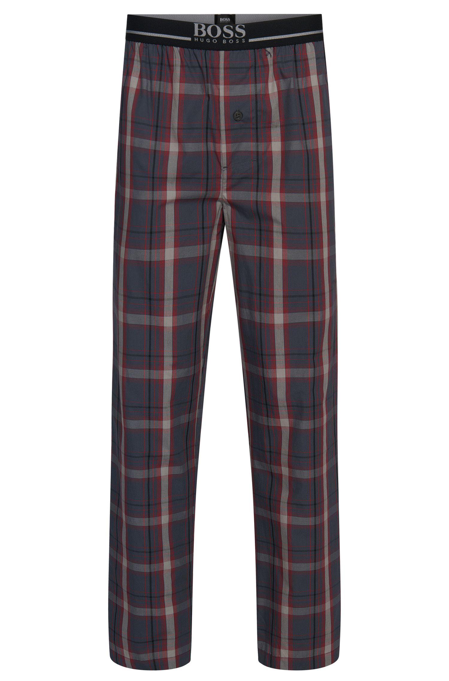 Geruite pyjamabroek van zuivere katoen: 'Long Pant EW'