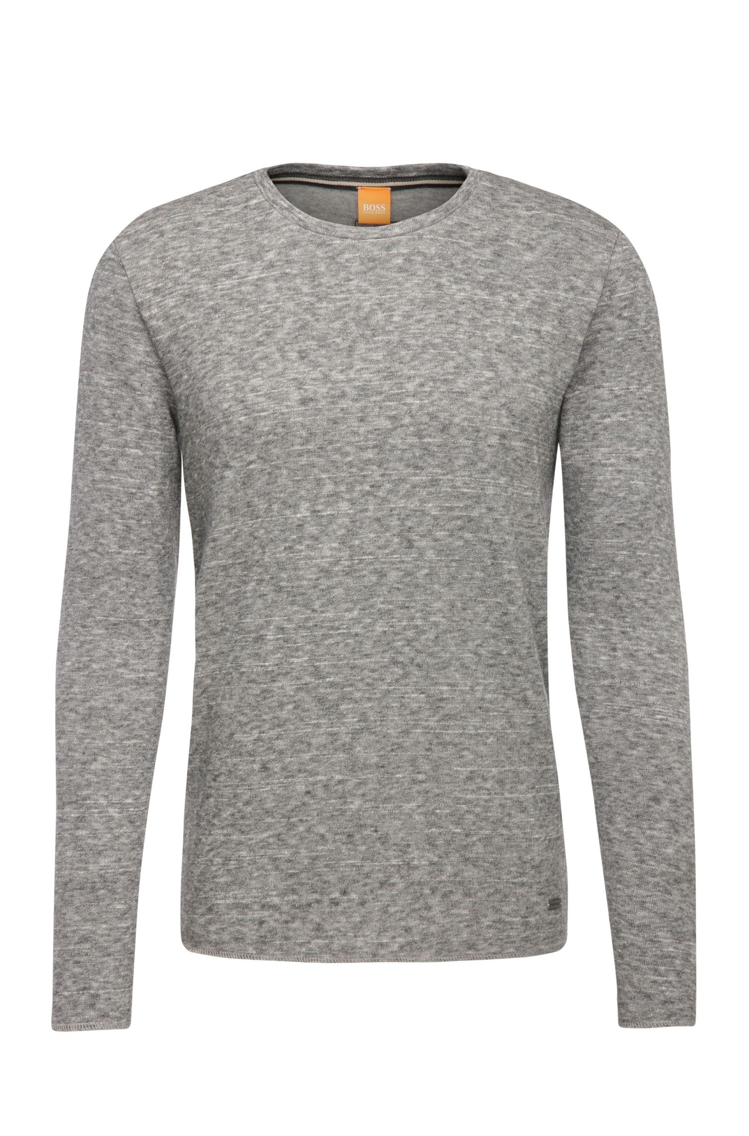 Narrow sweatshirt in a cotton blend with wool: 'Wayy'