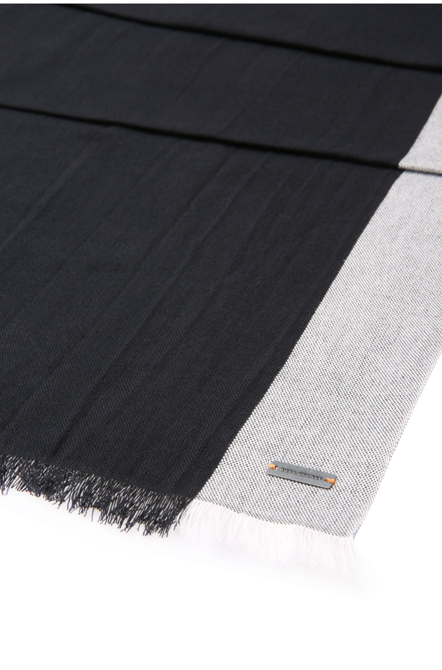 Écharpe bicolore en coton à la texture tissée: «Navio»