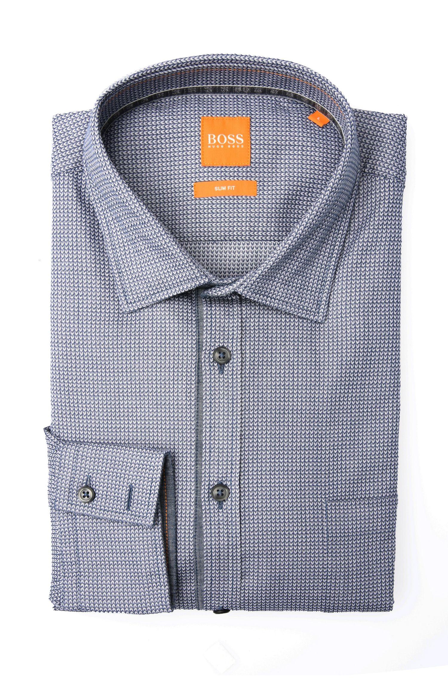 Fein gemustertes Slim-Fit Hemd aus Baumwolle: ´EslimE_1`