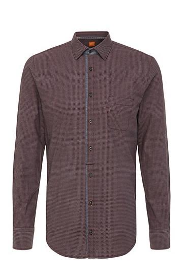 Slim-Fit Baumwollhemd mit Paisley-Muster: ´EslimE_1`, Rot
