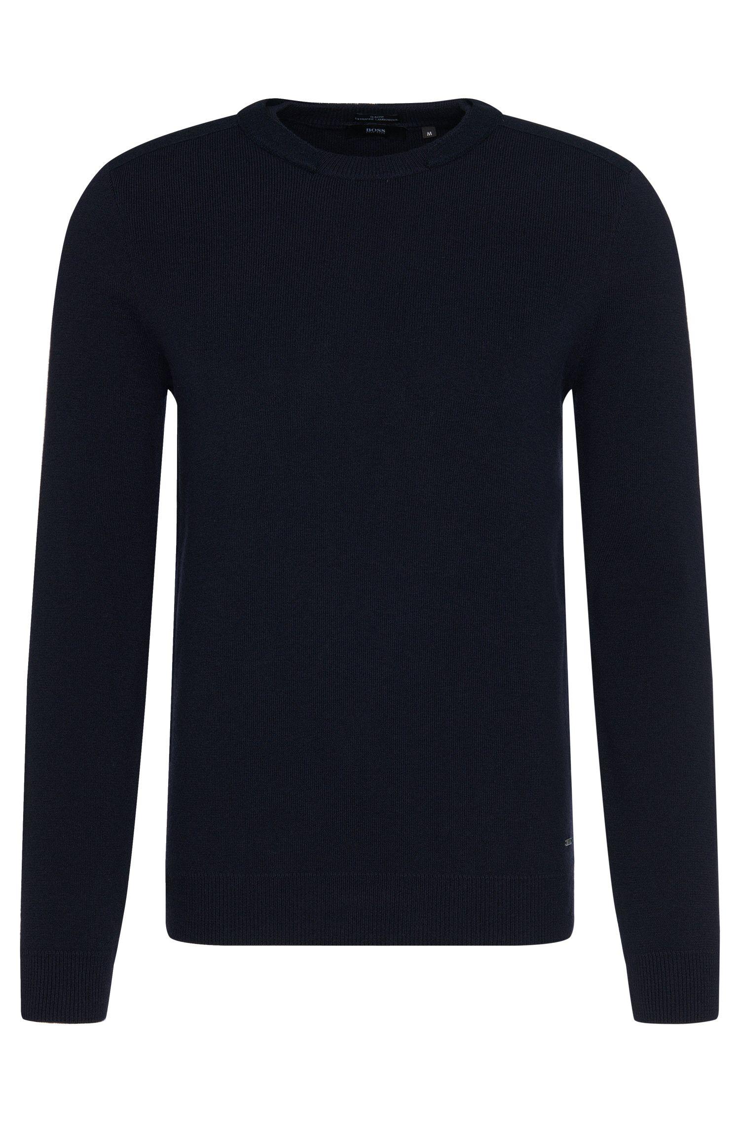 Maglione slim fit in lana vergine: 'Bertini'