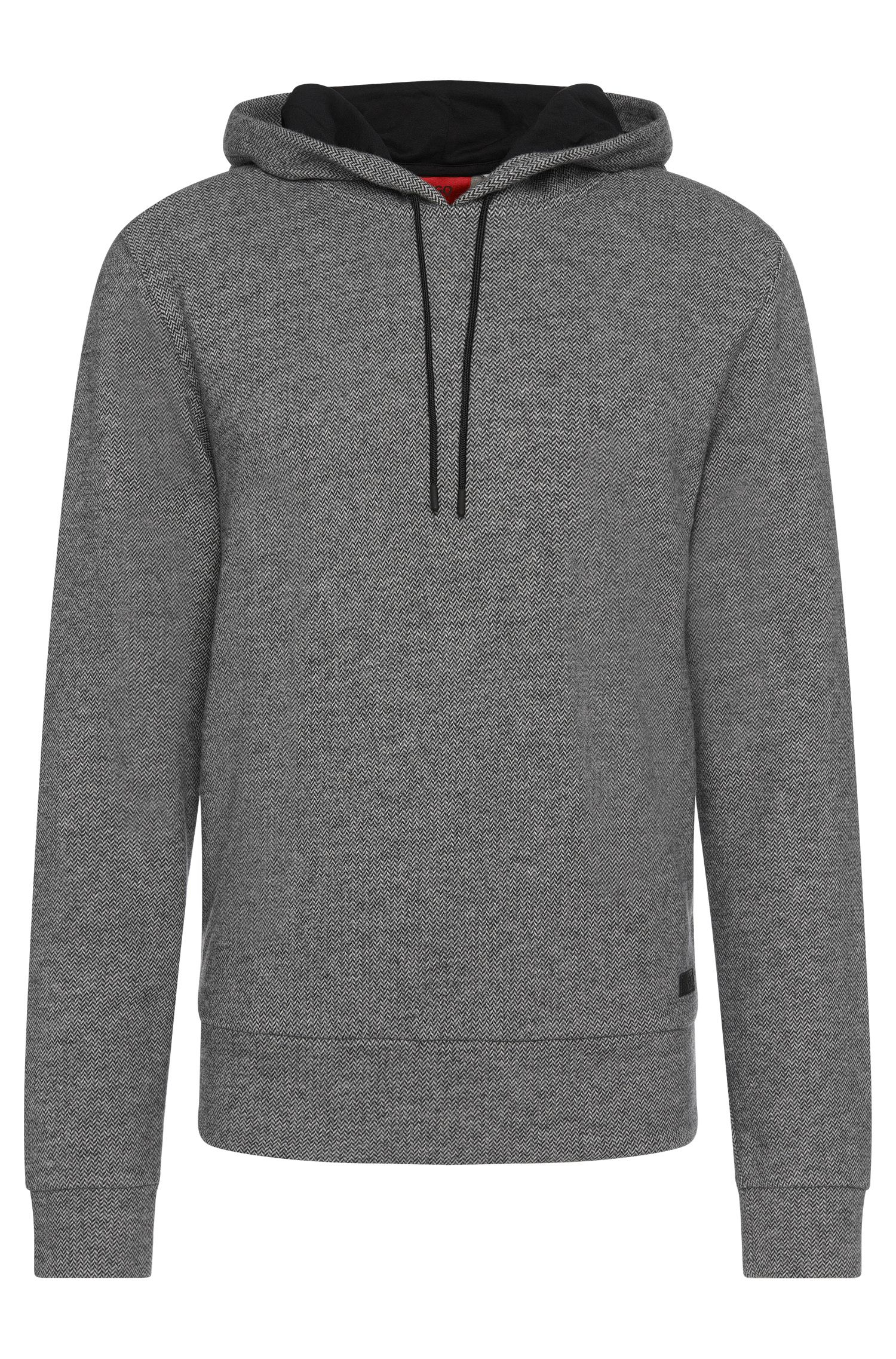 Regular-Fit Sweatshirt aus Baumwoll-Mix mit Zickzack-Muster: 'Dropello'