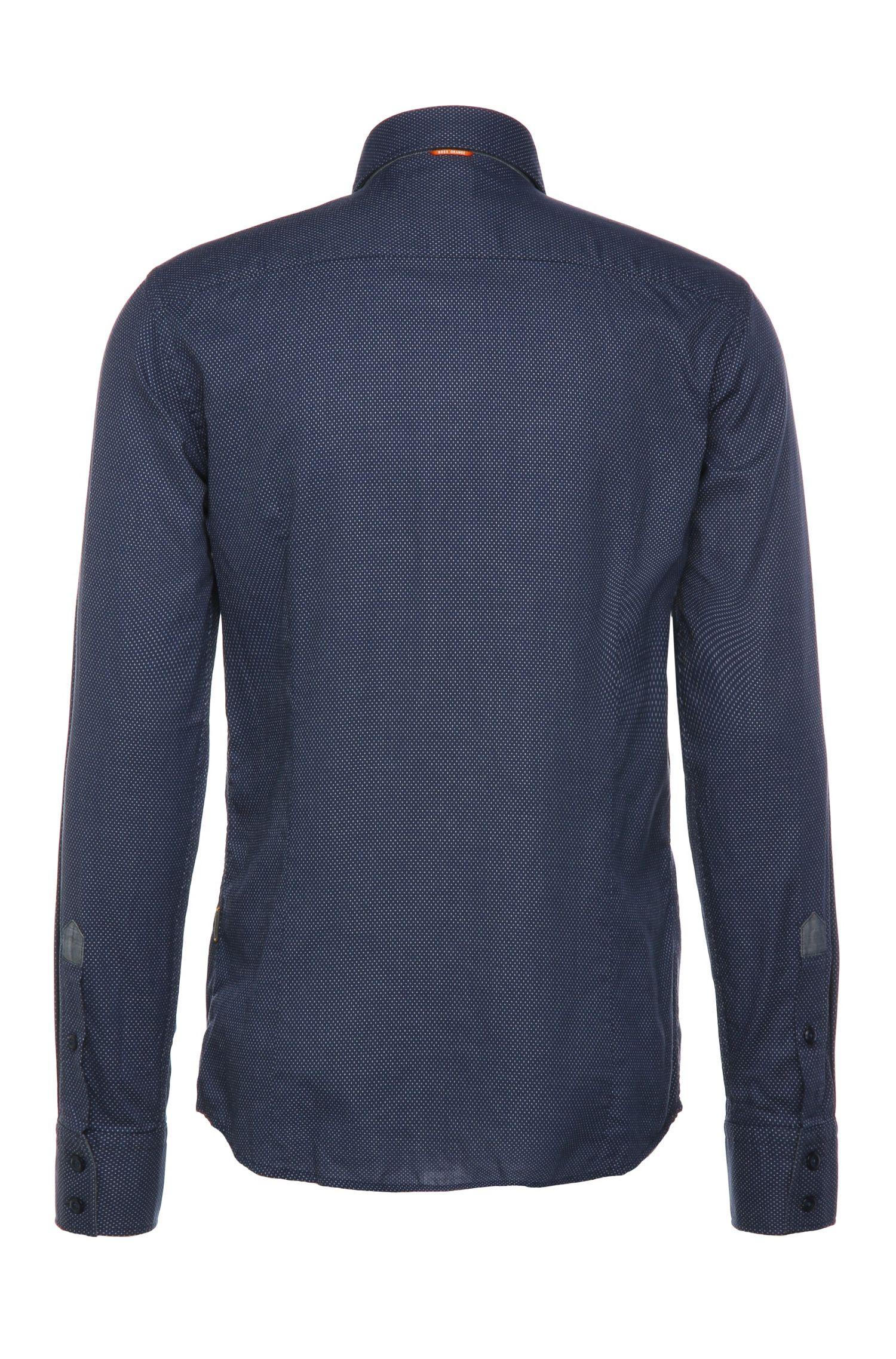 Chemise Slim Fit en coton à motif fin: «EslimE_1»