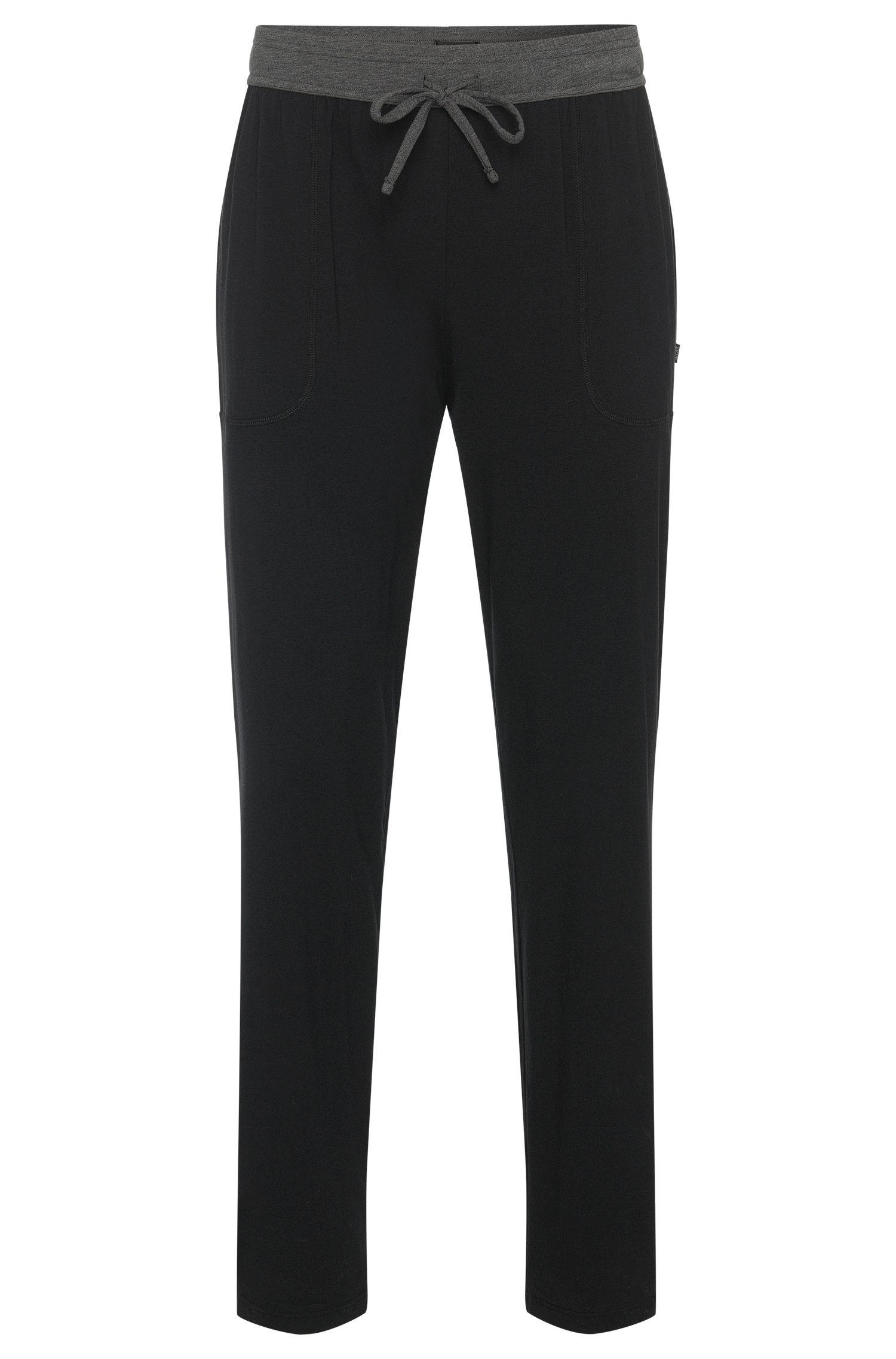 Pyjama-Hose aus Baumwoll-Mix mit kontrastfarbenem Bund: 'Long Pant CW'