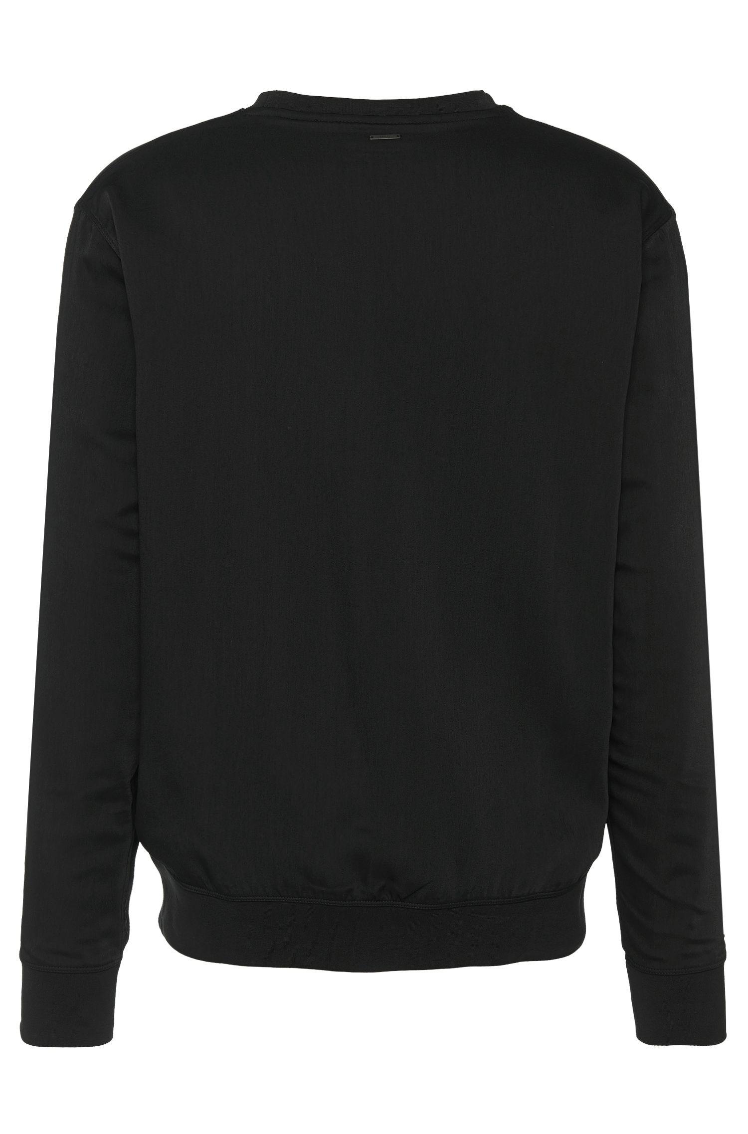 Loose-fit sweatshirt van katoen met beleg: 'Divatino'