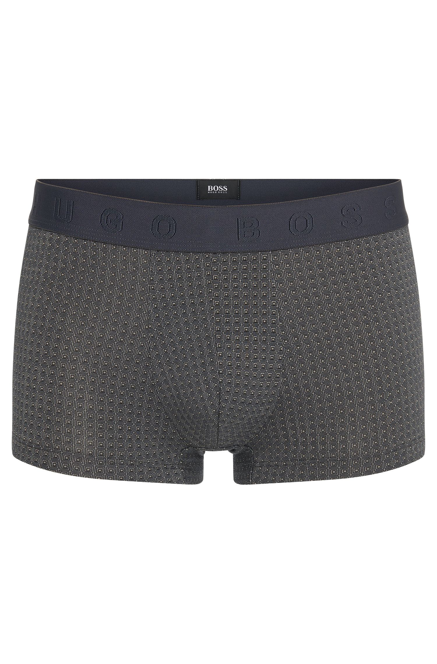 All-over patterned boxer shorts in a cotton blend with modal: 'Boxer Microprint'