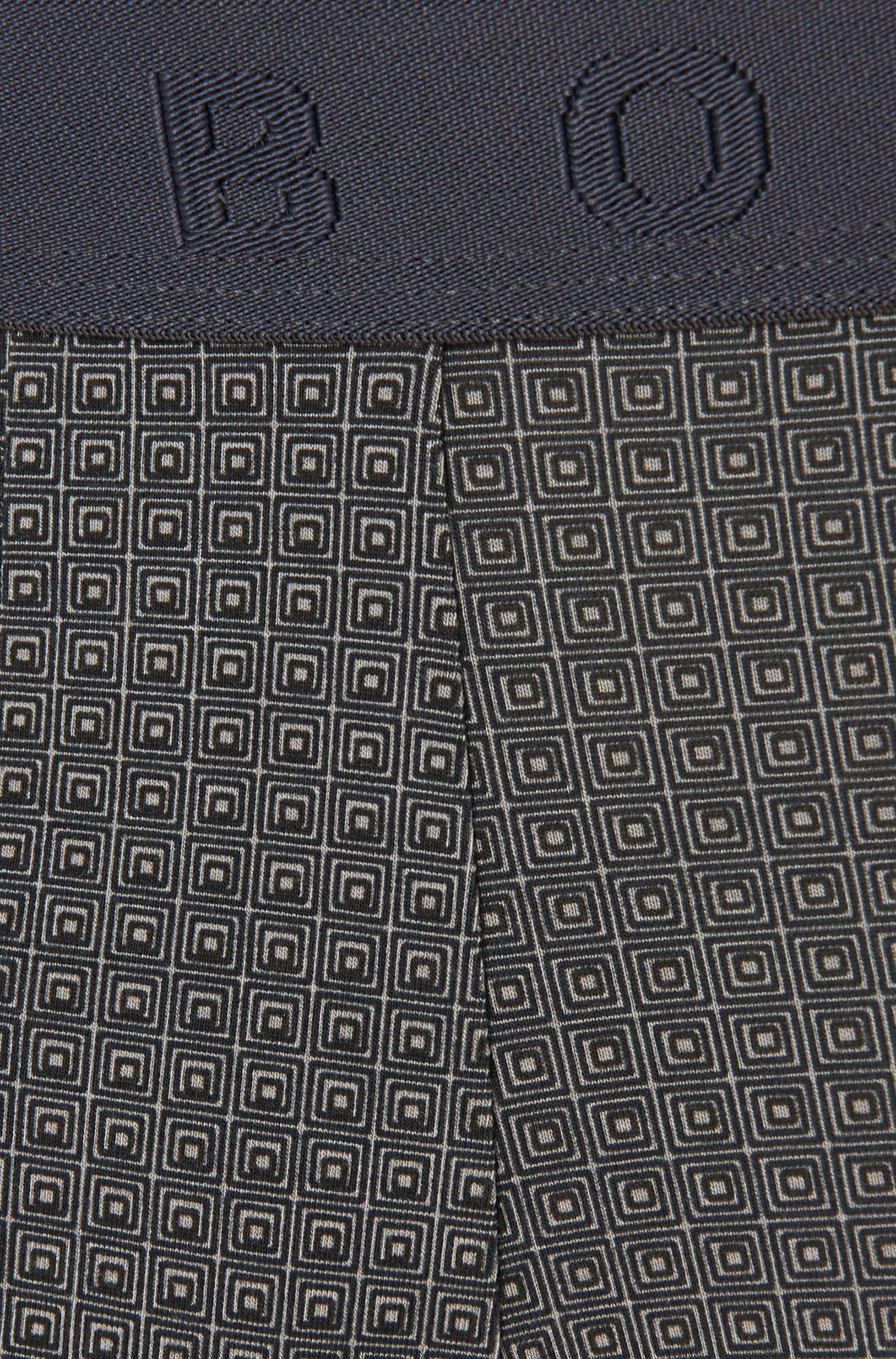 Allover gemusterte Boxershorts aus Baumwoll-Modal-Mix: 'Boxer Microprint'