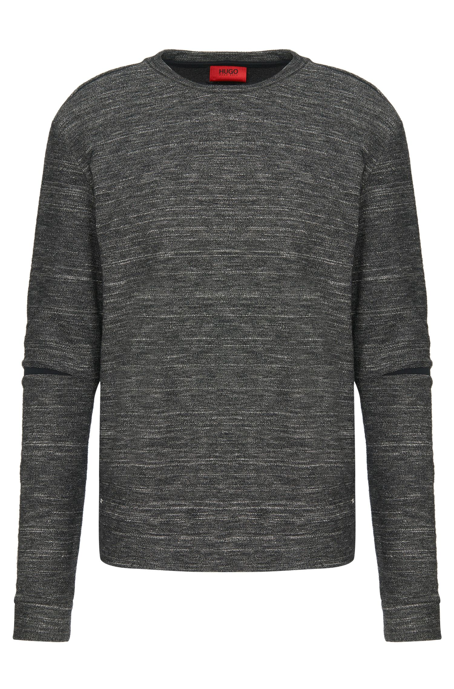 Loose-fit sweatshirt in cotton blend with contrasting inserts: 'Daetano'