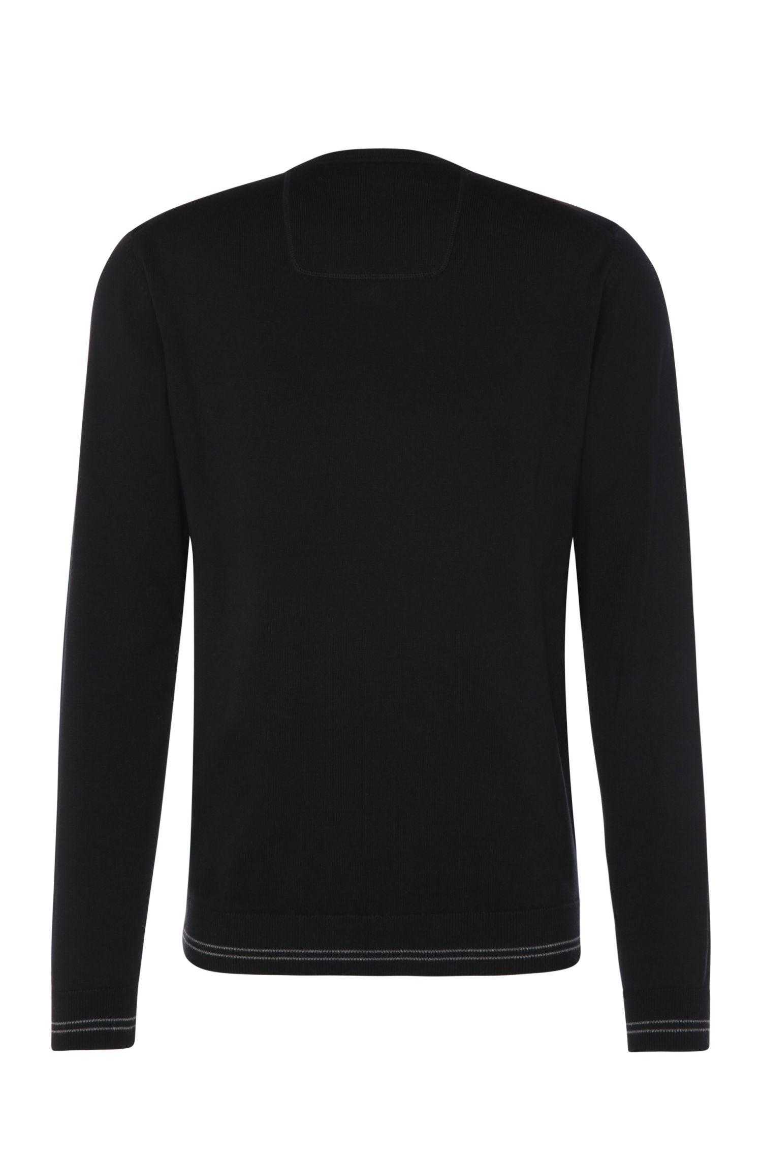 Fijngebreide trui met V-hals: 'Vime_W16'