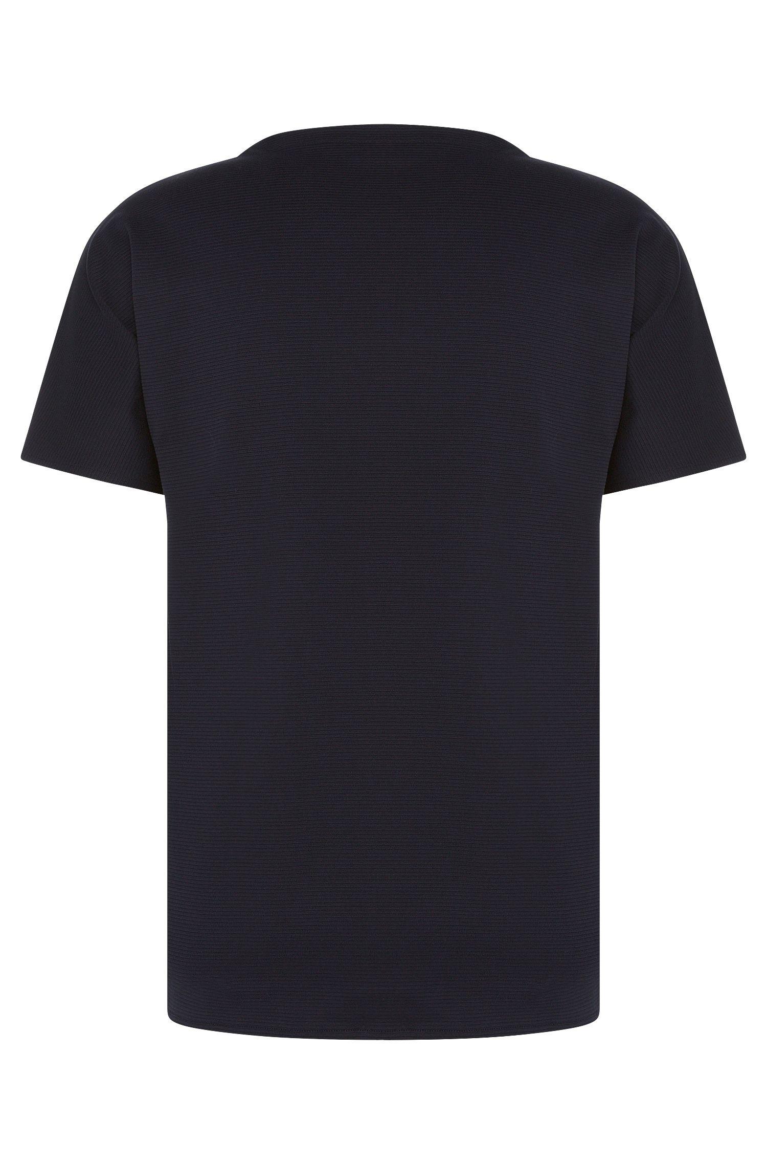 Loose-Fit T-Shirt aus Baumwolle mit geriffelter Struktur: 'Dimonos'