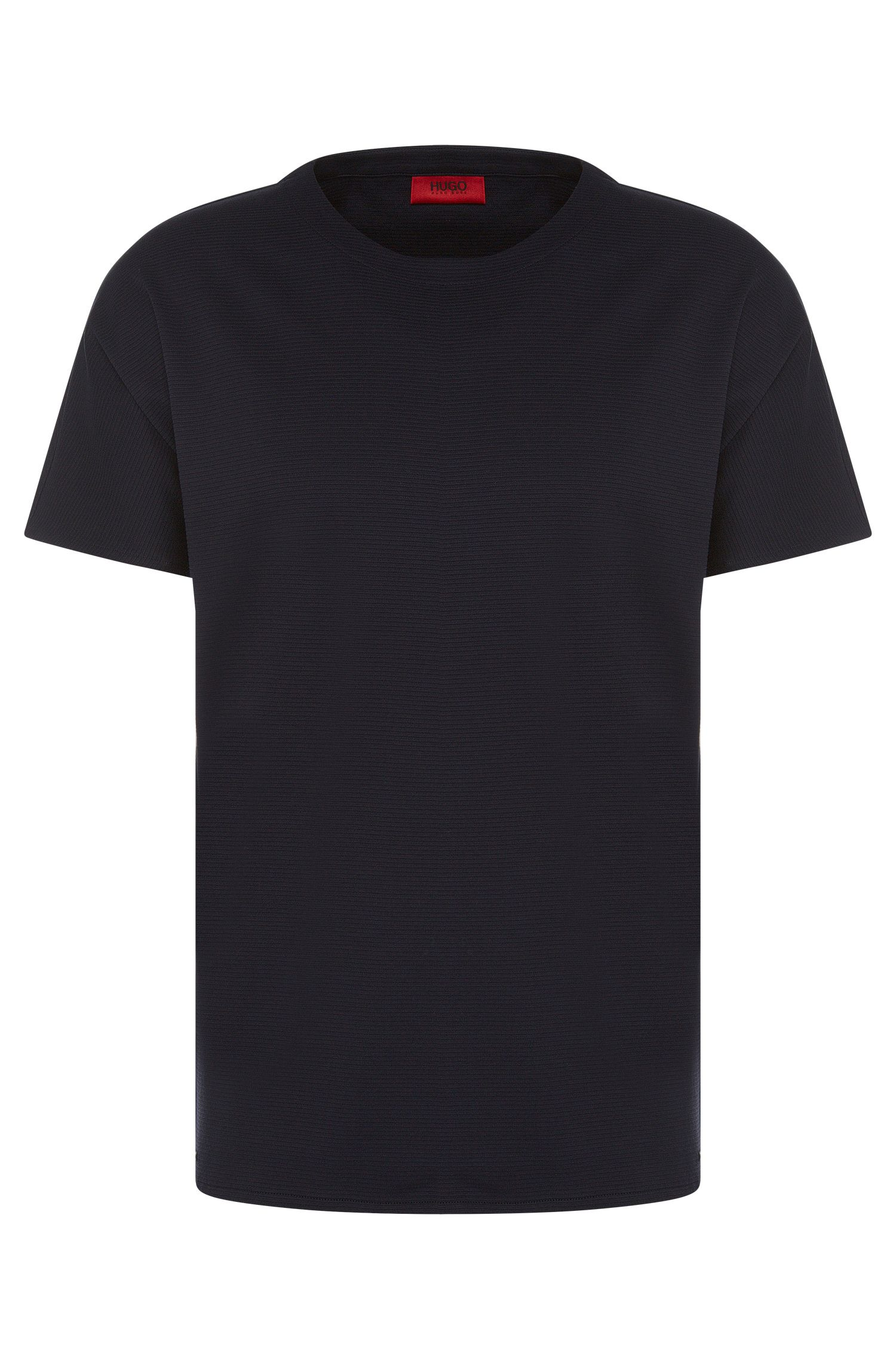 Loose-fit t-shirt in cotton with a fluted texture: 'Dimonos'