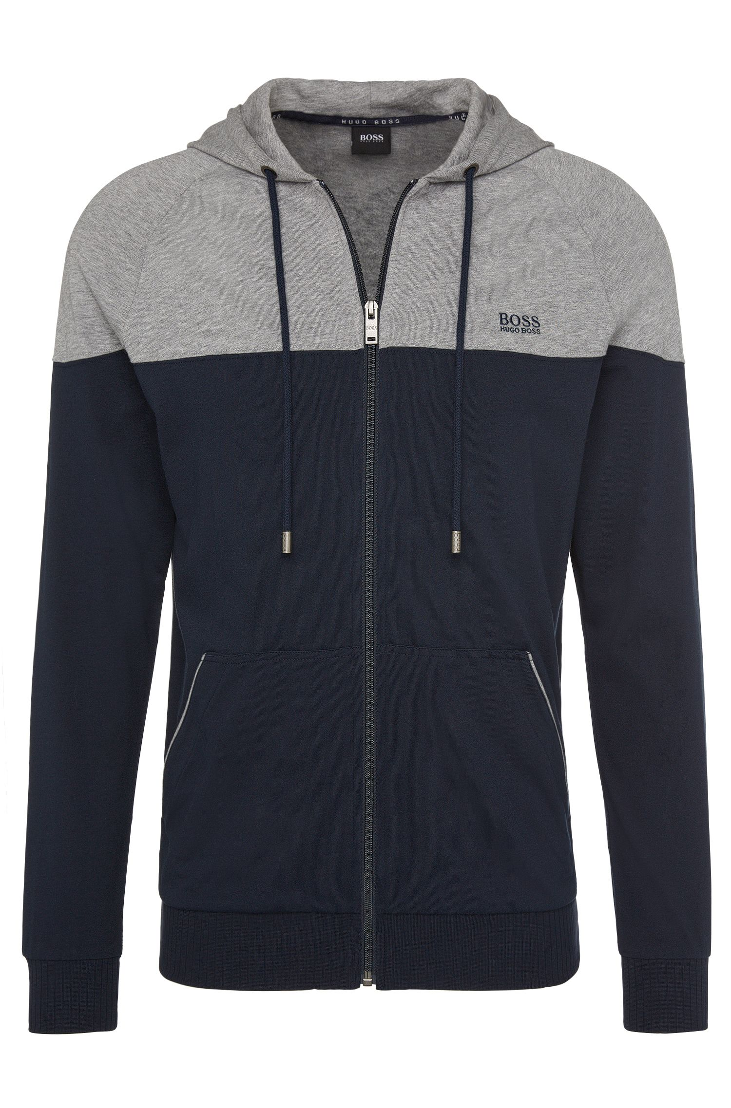 Blouson sweat à capuche en pur coton : « Jacket Hooded »