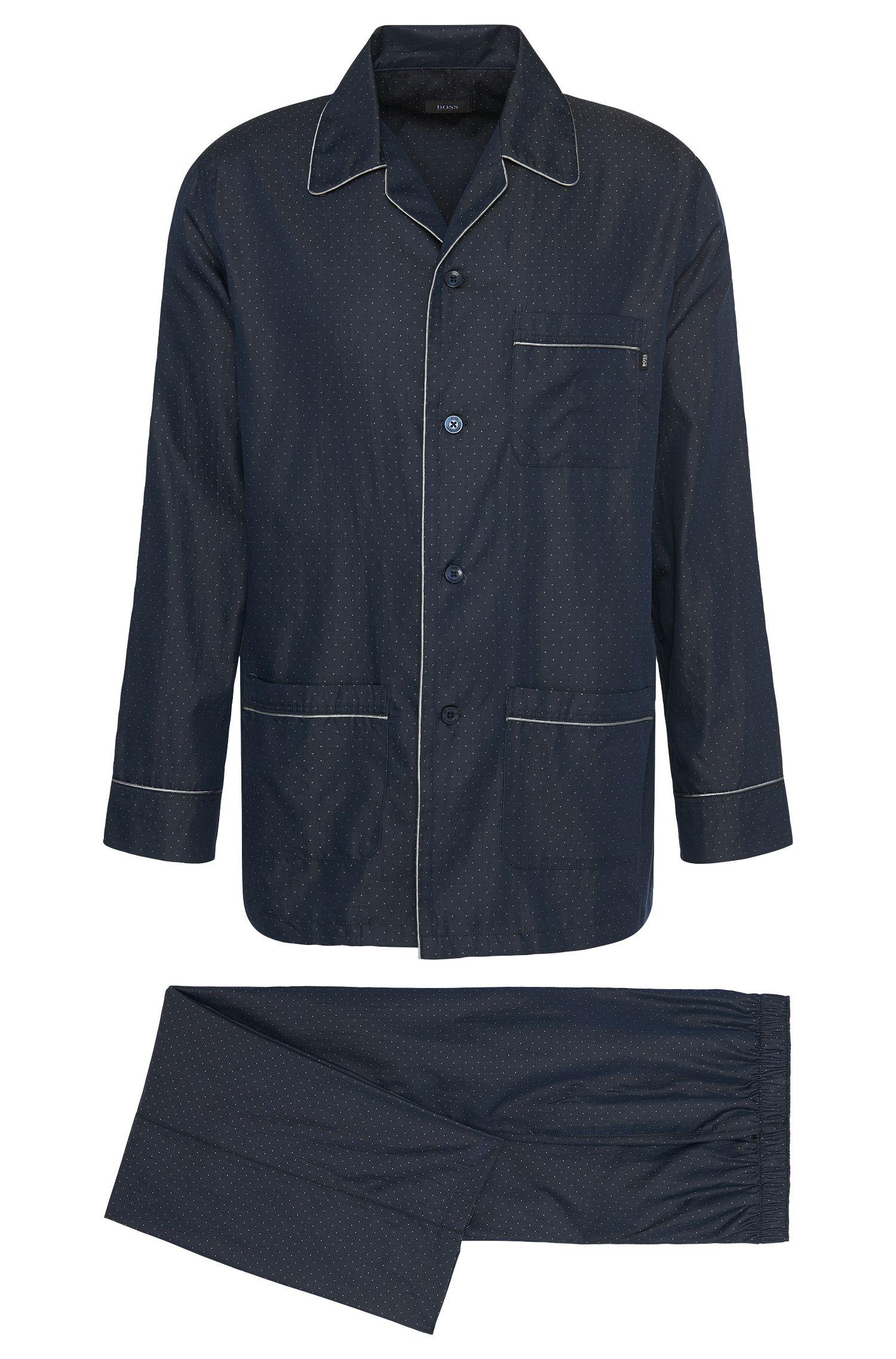 Pyjama en coton avec passepoils aux effets chatoyants: «Pyjama 3»